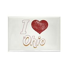 I Love Ohio (Vintage) Rectangle Magnet