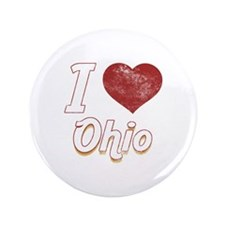 "I Love Ohio (Vintage) 3.5"" Button (100 pack)"