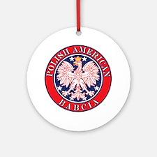 Polish American Babcia Ornament (Round)