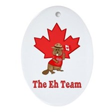 The Eh Team Oval Ornament