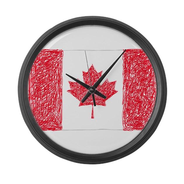 canada flag large wall clock by mosdij4dddd