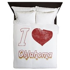 I Love Oklahoma (Vintage) Queen Duvet