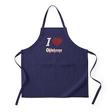 I Love Oklahoma (Vintage) Apron (dark)