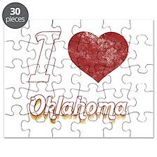 I Love Oklahoma (Vintage) Puzzle