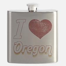 I Love Oregon (Vintage) Flask