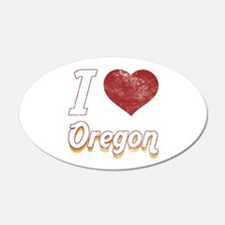 I Love Oregon (Vintage) Wall Decal