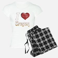 I Love Oregon (Vintage) Pajamas