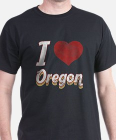 I Love Oregon (Vintage) T-Shirt