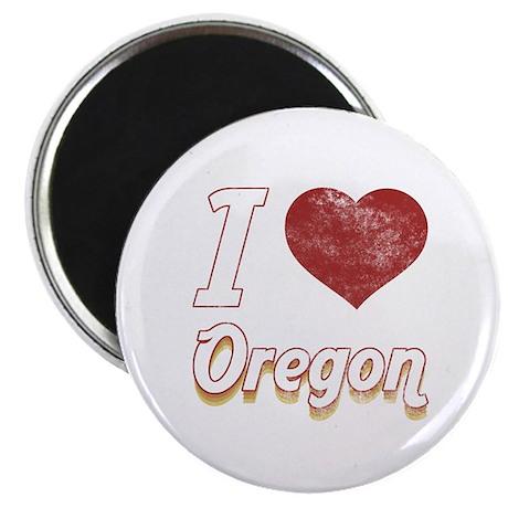 """I Love Oregon (Vintage) 2.25"""" Magnet (100 pack)"""