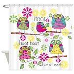 Hootie Owls Shower Curtain
