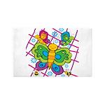 Butterflies 3'x5' Area Rug