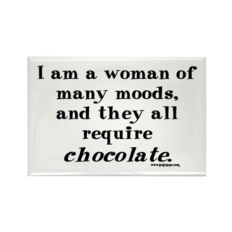 Woman of Many Moods - All Require Chocolate Rectan
