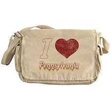 I Love Pennsylvania (Vintage) Messenger Bag
