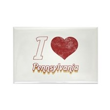I Love Pennsylvania (Vintage) Rectangle Magnet