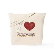 I Love Pennsylvania (Vintage) Tote Bag