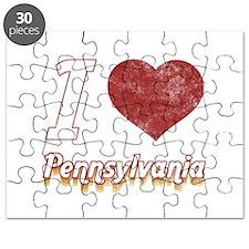 I Love Pennsylvania (Vintage) Puzzle