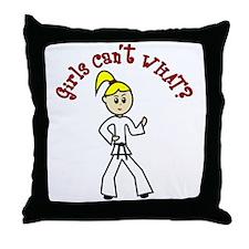 Light Karate Throw Pillow