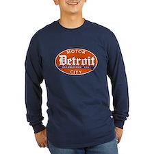 Vintage Detroit, Motor City Long Sleeve T-Shirt