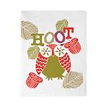 Red Hoot Owl Twin Duvet