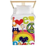 Love and Peace Twin Duvet