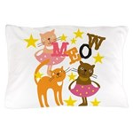 Dancing Cats Pillow Case