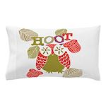 Red Hoot Owl Pillow Case