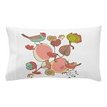 Birds in Fruit Tree Pillow Case