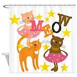 Dancing Cats Shower Curtain