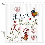 Love Birds Shower Curtain