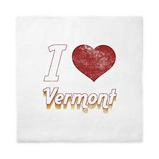 I Love Vermont (Vintage) Queen Duvet