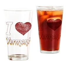 I Love Vermont (Vintage) Drinking Glass