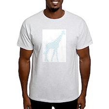 Light Blue Chevron Giraffe T-Shirt