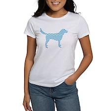 Bright Blue Chevron Dog T-Shirt