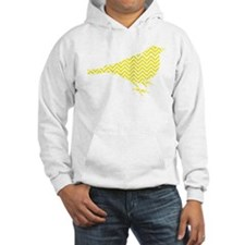 Bright Yellow Chevron Bird Hoodie