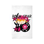 Blond Rock Star Girl 3'x5' Area Rug
