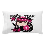 Brunette Rock Star Girl Pillow Case