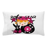 Blond Rock Star Girl Pillow Case