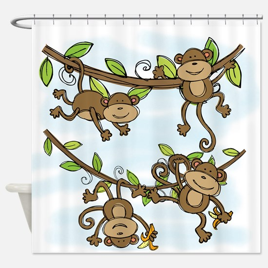 Monkey Shine Shower Curtain