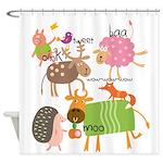 Silly Animals Shower Curtain