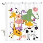 Animal Menagerie Shower Curtain