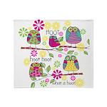 Hootie OwlsThrow Blanket