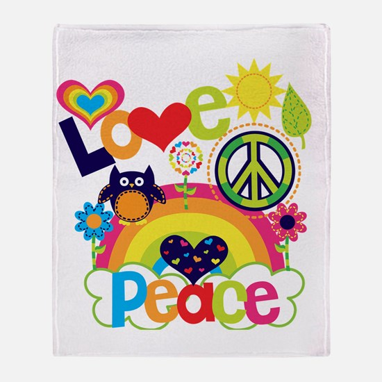 Love and Peace Throw Blanket