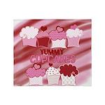 Yummy Cupcakes Throw Blanket