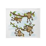 Monkey ShineThrow Blanket