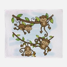 Monkey ShineThrow Blanket