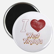 I Love West Virginia (Vintage) Magnet