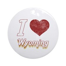 I Love Wyoming (Vintage) Ornament (Round)
