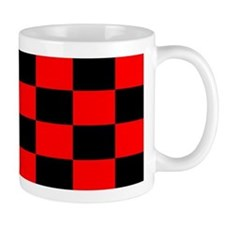 Bright red and black checkerboard Coffee Mug