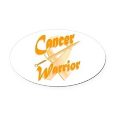 Amber Appendix Cancer Warrior Oval Car Magnet