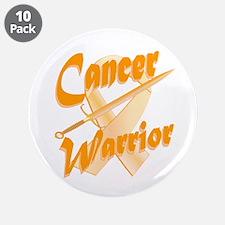 "Amber Appendix Cancer Warrior 3.5"" Button (10 pack"